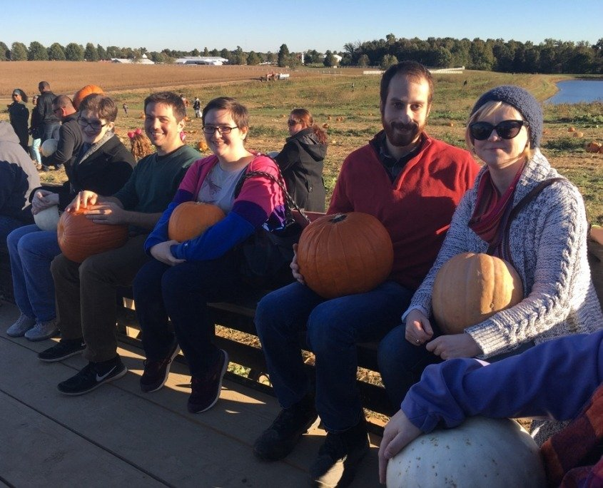 Young Adult Pumpkin Picking