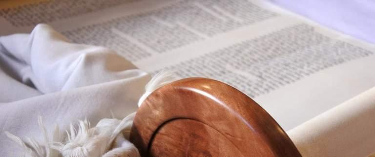 Reading Torah at Shabbat Services in synagogue