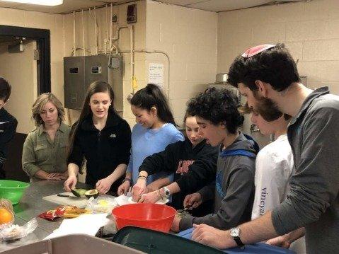 Charoset making at Religious School
