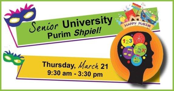 Senior University Purim Shpiel - Day of learning for seniors