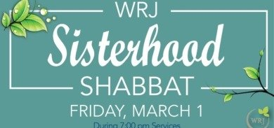 WRJ Sisterhood Shabbat