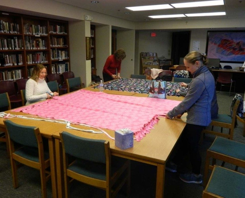 Blankets & Blessings are hard at work at The Temple!