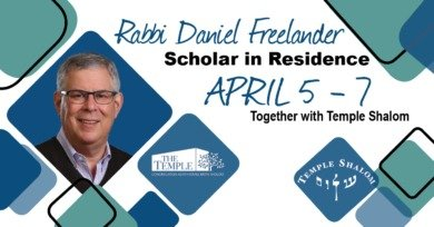 Rabbi Daniel Freelander Weekend