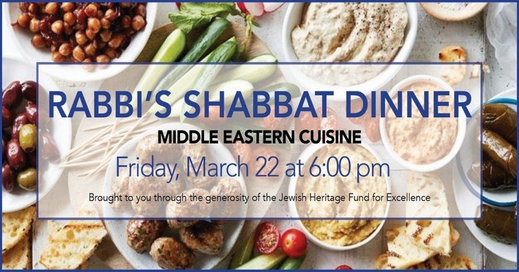 Rabbis' Shabbat Dinner Middle Eastern Cuisine