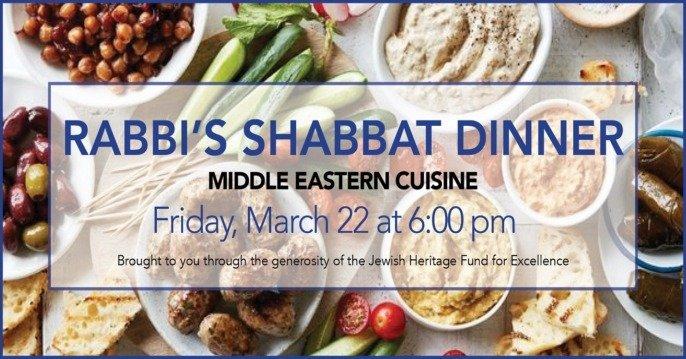 Rabbis' Shabbat Dinner Middle Eastern Cuisine