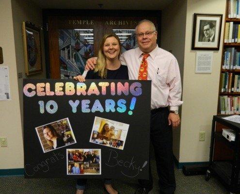 Celebrating Becky's 10 years