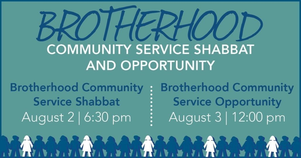 Brotherhood Community Service Shabbat