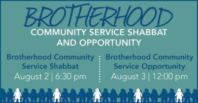 Brotherhood Community Service Shabbat
