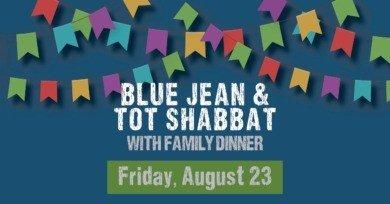 Blue Jean and Tot Shabbat