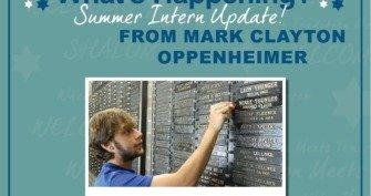 Summer Intern Update - Yahrzeit