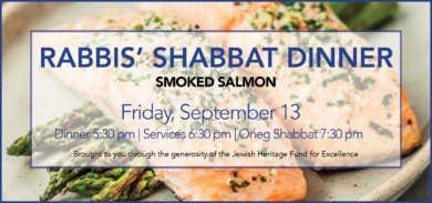 Rabbis Shabbat Dinner